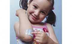 Young Girl with Bandage