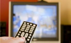 Remote control pointing at TV